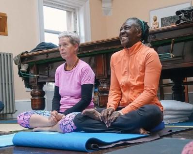 Kia Naddermier yoga weekend, Rosina Bonsu Moves, Glasgow November 2016.
